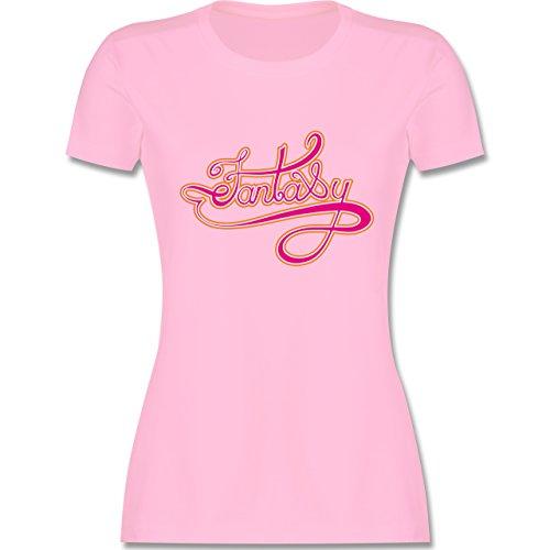 Symbole - Fantasy - tailliertes Premium T-Shirt mit Rundhalsausschnitt für Damen Rosa