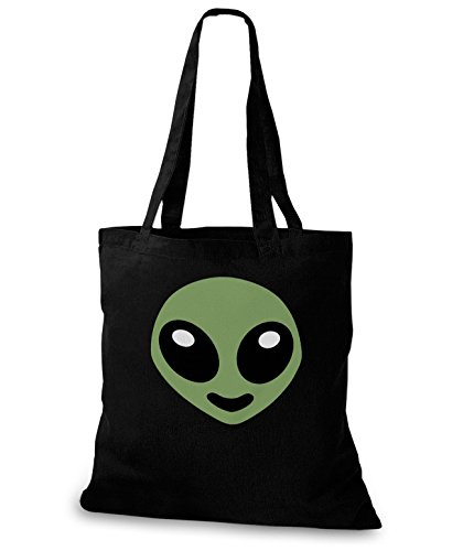 StyloBags Jutebeutel / Tasche Happy Alien Schwarz
