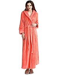 6c90f5cb0c Chichidog Women Winter Fleece Dressing Gown Fluffy Bathrobe Full Length