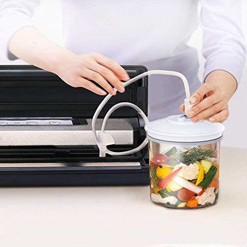 [Aktualisiert] Vakuumierer, Crenova VS100S – Vakuumiergerät für Nahrungsmittel, manuelle Pausenfunktion für brüchige Lebensmittel, +10 gratis Profi-Folienbeutel - 6