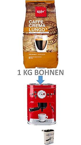 Käfer Caffè Crema, ganze Bohne, plus 3 D Dose