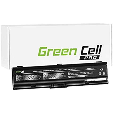 Green Cell® PRO Serie Batería para Toshiba Satellite L500-20Z Ordenador (Las Celdas Originales Samsung SDI, 6 Celdas, 5200mAh,