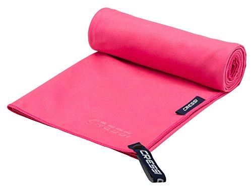 Cressi fast drying, asciugamano sportivo in microfibra unisex-adulto, rosso, 90 x 180 cm