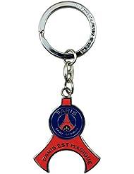 PSG Porte-Clefs Tour Eiffel Sous Blister Metal Multicolore 8,5 x 18 x 2,5 cm
