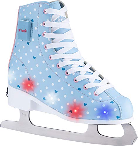 X-TECH Ice Star LED Schlittschuh lightblue/pink/White, 35-38