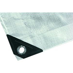NOOR Abdeckplane SUPER 200g/m² Weiß I 2 x 2 m I Allzweckplane für Schutz vor Witterung I Ideal geeignet für den Gartenbereich I UV-stabilisiert, beidseitig beschichtet, wasserfest & abwaschbar