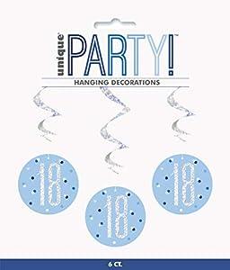 Unique Party- Adornos, Color blue & silver (83796)