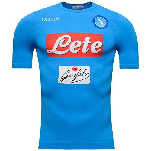 Napoli 16/17 Players Home S/S Football Shirt - Azure - size XS-S (Napoli Soccer Shirt)