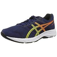 ASICS Gel-Contend 5, Men's Road Running Shoes, Multicolour (Blue Expanse/Sour Yuzu), 43.5 EU