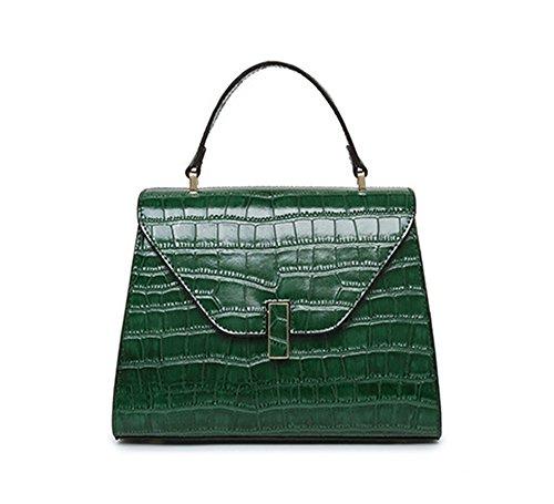 Sacs à main pour femme Xinmaoyuan motif crocodile sac à main en cuir Messenger Sac pour femme Green