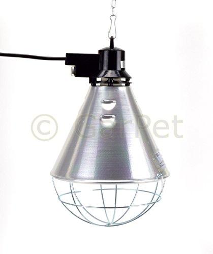 GarPet Aluminium Reflektor Schutzgitter Komplett Set Wärme Infrarot Lampe Wärmestrahler (Wärmestrahler ohne Lampe)