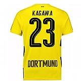 2017-18 Borussia Dortmund Home Short Sleeve Football Soccer T-Shirt Trikot (Shinji Kagawa 23)