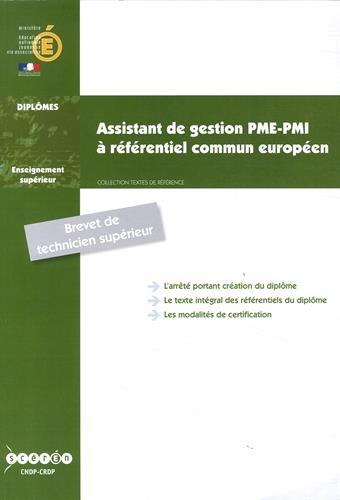 Bts Assistant de Gestion Pme-Pmi a Referentiel Commun Europeen
