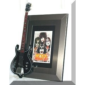 Marco de fotos KISS Punisher guitarra en miniatura
