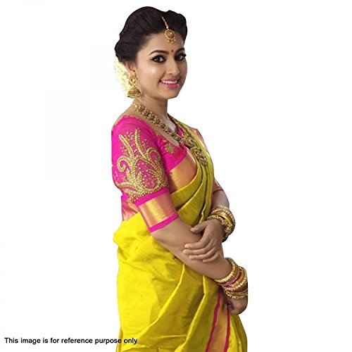 Indian Beauty Women's Poly Cotton Saree (yellow)
