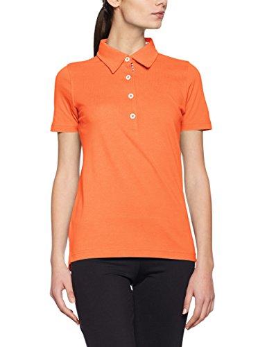 James & Nicholson Damen Ladies´ Plain Polo Poloshirt, Dark Blue-Orange-White, 38 (Herstellergröße: L) -