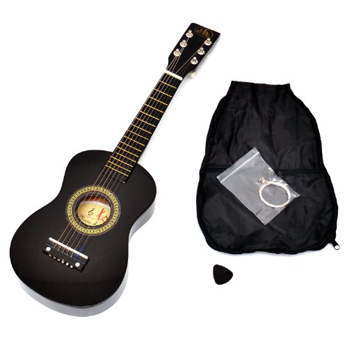 Guitarra para Niños, Guitarra de madera de 59 cm en negro,...