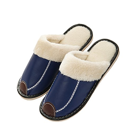 A Superficie Pantofole Casa Rojeam Impermeabile Blu Antiscivolo Felpa Caldo Poteva Donne 1waq4766