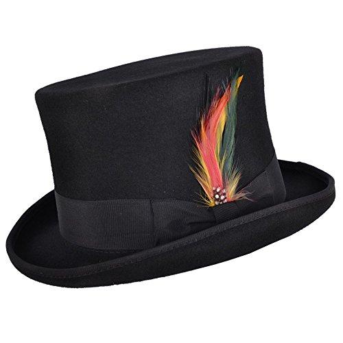 Superb 100% Wolle Hand Made Hochzeit Event Satin gefüttert Top Hat Gr. X-Large, (Weiße Satin Derby Hat)