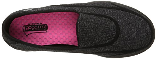 Skechers GO Walk 2 Super Sock Damen Walkingschuhe Schwarz