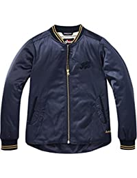 Scotch & Soda Bomber Jacket with Uneven Bottom in Satin Quality, Giacca Bambina