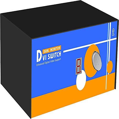 BeMatik - Uniclass KVM Switch PS2 DVI 1600x1200 Video 1KVM ein Dual 2CPU
