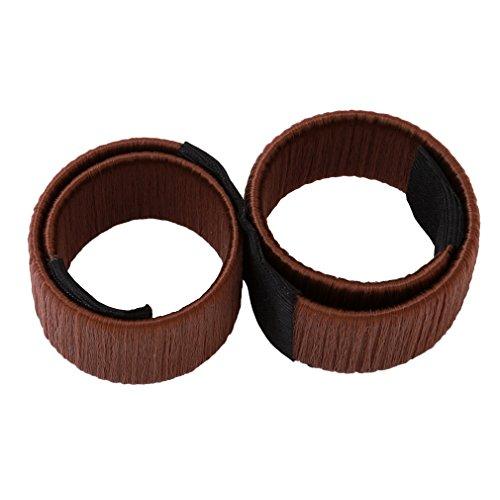 HENGSONG Frühling Mode Frisur Damen Haarstyling Tool – Donut Hair Bun Styling Werkzeug – Donut Schaum Spiral Magie DIY Werkzeug Brautschmuck (Kaffee)