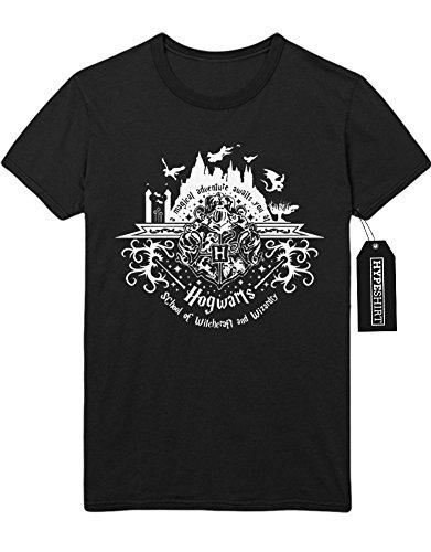 """T-Shirt Harry Potter Phantastische Tierwesen und wo sie zu finden sind """"MAGICAL ADVENTURE AWAITS YOU AT HOGWARTS"""" C983065 Schwarz"""