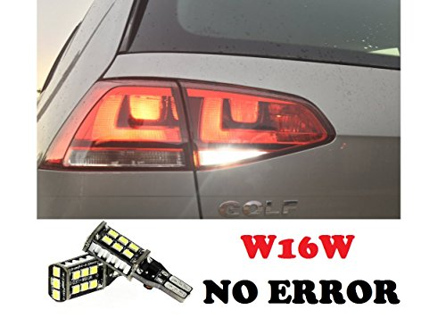 LAMPADE RETROMARCIA NO ERROR 13 LED T15 W16W CANBUS PER GOLF VII 7