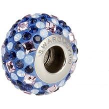 Abalorio charm swarovski original, con certificado de garantía, color azul. Compatible con todas las marcas de pulseras de abalorio (Pandora, Chamilia,..)