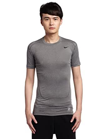 Nike Herren Kurzarm Shirt Pro Core 2.0 Compression, Carbon Heather/Black, XXL, 449792-021