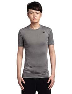 Nike Herren Kurzarm Shirt Pro Core 2.0 Compression, Carbon Heather/Black, XXL, 449792-021
