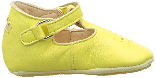 Easy Peasy Lillyp, Chaussures de Naissance Bébé Fille Jaune (jaune paille)