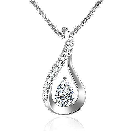 GEORGE · SMITH ❤Kristallliebe❤Damen Silberkette 925 Anhänger Silber con Swarovski Kristall -Elegant Damen Schmuck Geburtstagsgeschenk für sie