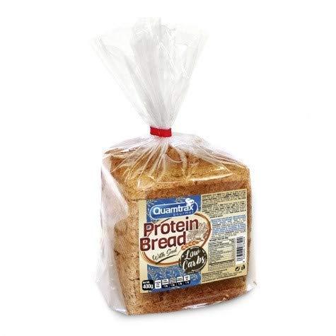 Pan Proteico de Molde con semillas Quamtrax de 400gEl nuevo Pan Proteico de Molde con semillas Quamtrax de 400g es una alternativa saludable para el desayuno o para la preparación de sándwiches. Este pan, bajo en carbohidratos, es un pan de molde tra...