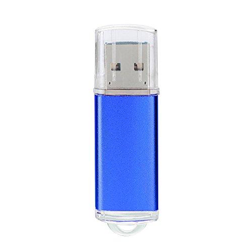 Preisvergleich Produktbild Xmansky 1GB USB 2,0 OTG Metall Blinken Erinnerung Stock Lagerung Daumen U Scheibe Unterstützt Windows 7/8/98 / Me / 2000 / XP / Vista / Linux 2.4, Mac OS 9.0 Und über Etc Computer Betriebs Systeme (Blau)
