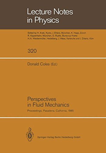 Perspectives in Fluid Mechanics: Proceedings of a Symposium Held on the Occasion of the 70th Birthday of Hans Wolfgang Liepmann Pasadena, California, 10-12 January, 1985 (Lecture Notes in Physics)
