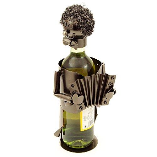 H-LINE Weinflaschenhalter MUSIKER, Flaschenhalter Geschenkidee für Männer, Weinliebhaber &...