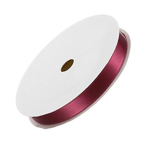 Double ruban satin Rouge foncé pour perles 10 mm 7 m