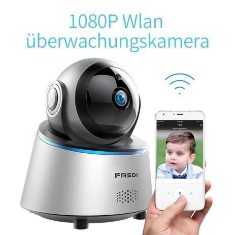 Sicher zu Hause 1080P HD WLAN Wifi IP Kamera Haustier Sicherheitskamera Überwachungskamera IP Cam Kabellos P2P Schwenkbar Bewegungsmelder 2 Weg Audio IR Nachtsicht für Baby Überwachung