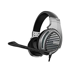 LUPSAN Gaming Headset für Ps4 Pc Xbox One, Gamer Kopfhörer mit Mikrofon für Nintendo Switch Playstation 4 Xbox One S X Computer Laptop Skype – Grau