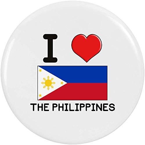 Azeeda 2 x 38mm 'I Love The Philippines' Pin Knopf-Abzeichen (BB00001228) - Philippinen Mantel