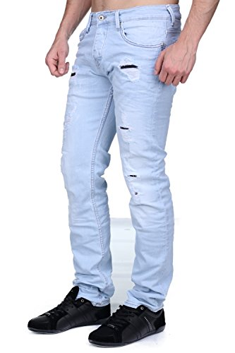 Kaporal - Jeans Ambro E17 Eratik Destroy Bleu