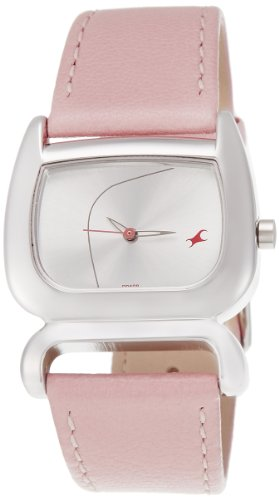 41zx%2Bs76cIL - 6091SL01 Fastrack Fits and Forms Silver Women watch