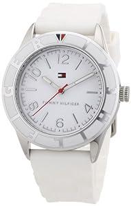 Reloj Tommy Hilfiger 1781184 de cuarzo para mujer con correa de silicona, color blanco de Tommy Hilfiger Watches
