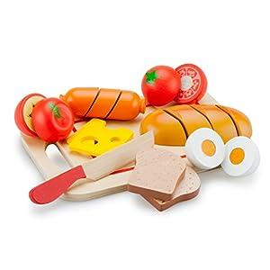 New Classic Toys Toys-10578 10578 rol (Cocina y Comida, Estuche de Juego, 1,5 año(s), Preescolar, Niño/niña, Multicolor), Color Madera