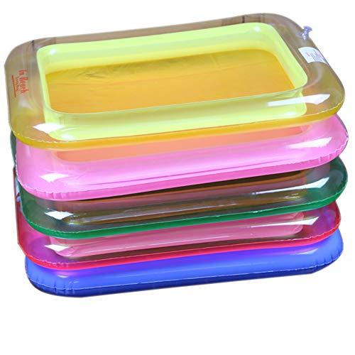 Xiton Tragbare aufblasbare Sandkasten-Bunte Streu-Sand-Tabellen-Spielzeug für Kinder am Strand (Gelegentliche Farbe) 1pc