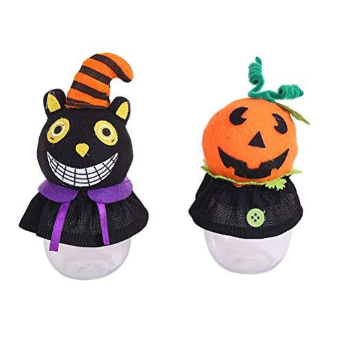 BESTOYARD 2 stücke Halloween Süßes oder Saures Cartoon Süßigkeiten Cookies Glas Halter für Kinder Geschenke Halloween Dekoration