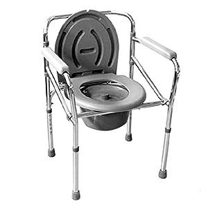 GLJY Zusammenklappbarer Toilettenstuhl, Schlafzimmer-Stuhl, Entfernbarer Sitz Und Töpfchen, Anwendbar Auf Die Älteren Personen, Schwangere Frauen, Die Untauglichen