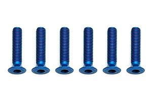 Team Associated Screws, 3x 14mm fhcs, Blue Aluminum